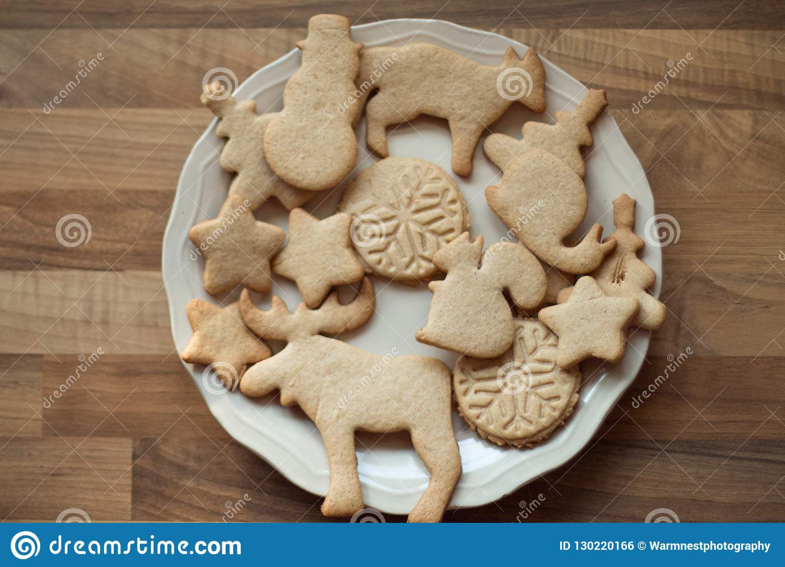 Christmas Biscuits On A Plate Stock Photo Image Of Finger