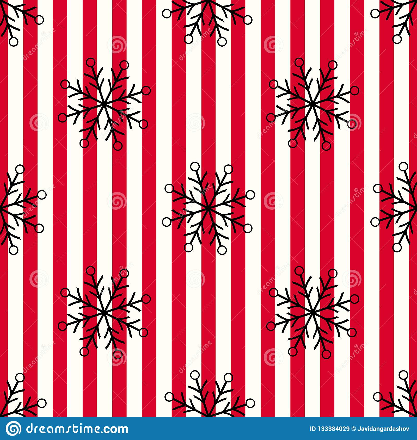 christmas black snowflake seamless pattern snow red white lines background winter texture design wallpaper symbol holiday new 133384029