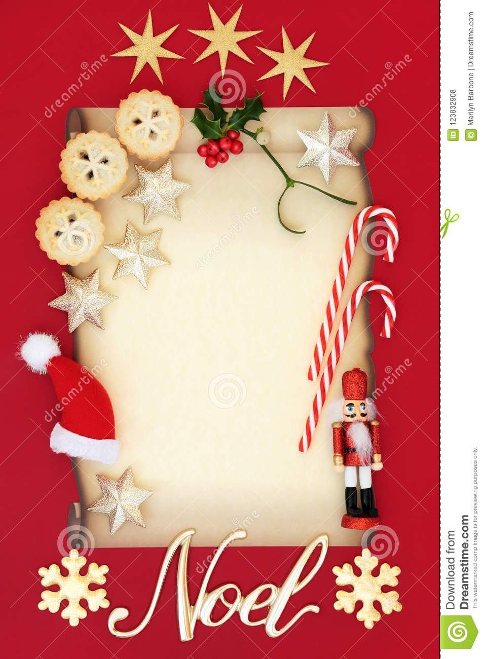 Christmas Blank Letter And Noel Sign Stock Photo Image Of
