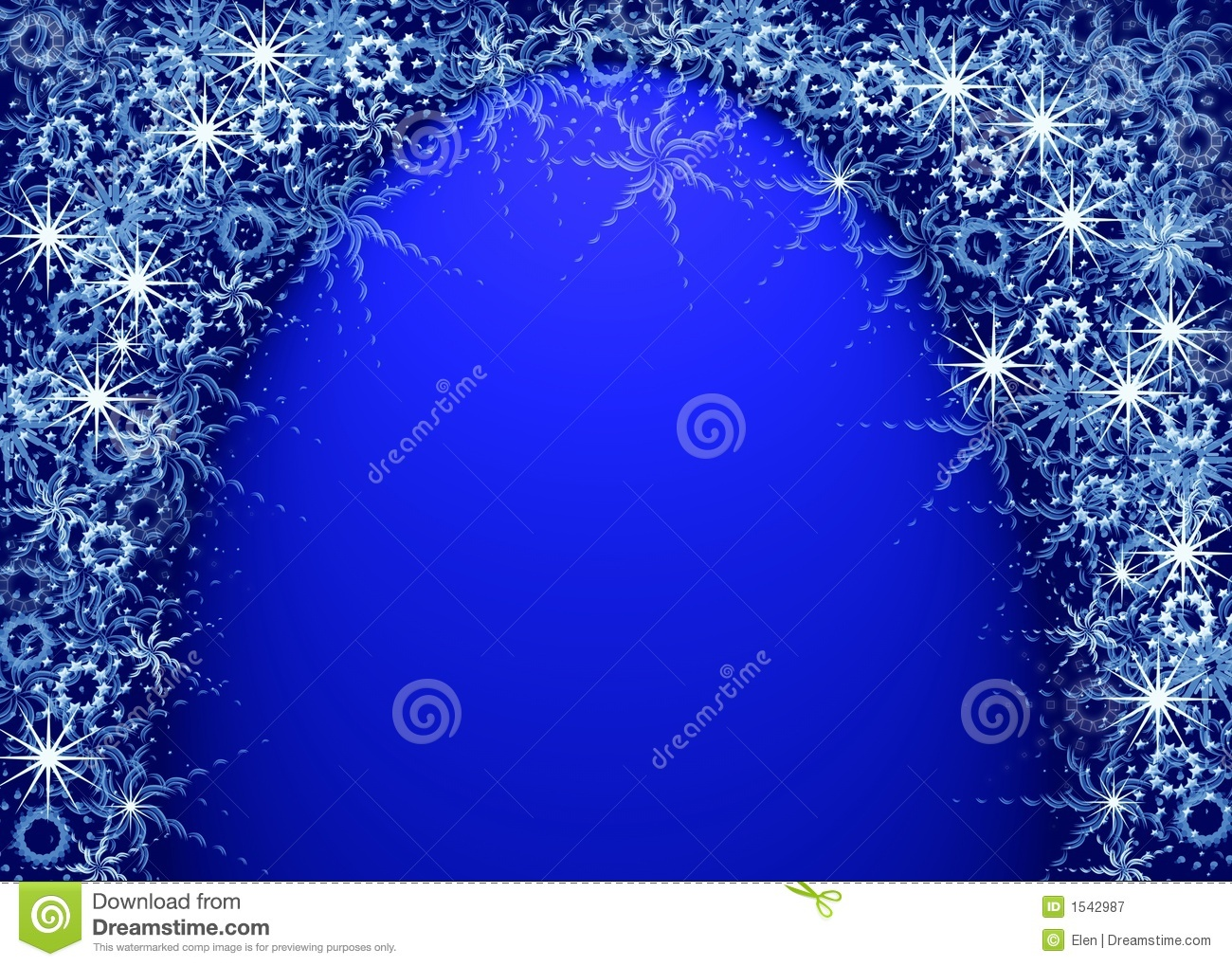 Christmas blue magic frame stock illustration. Illustration of ...