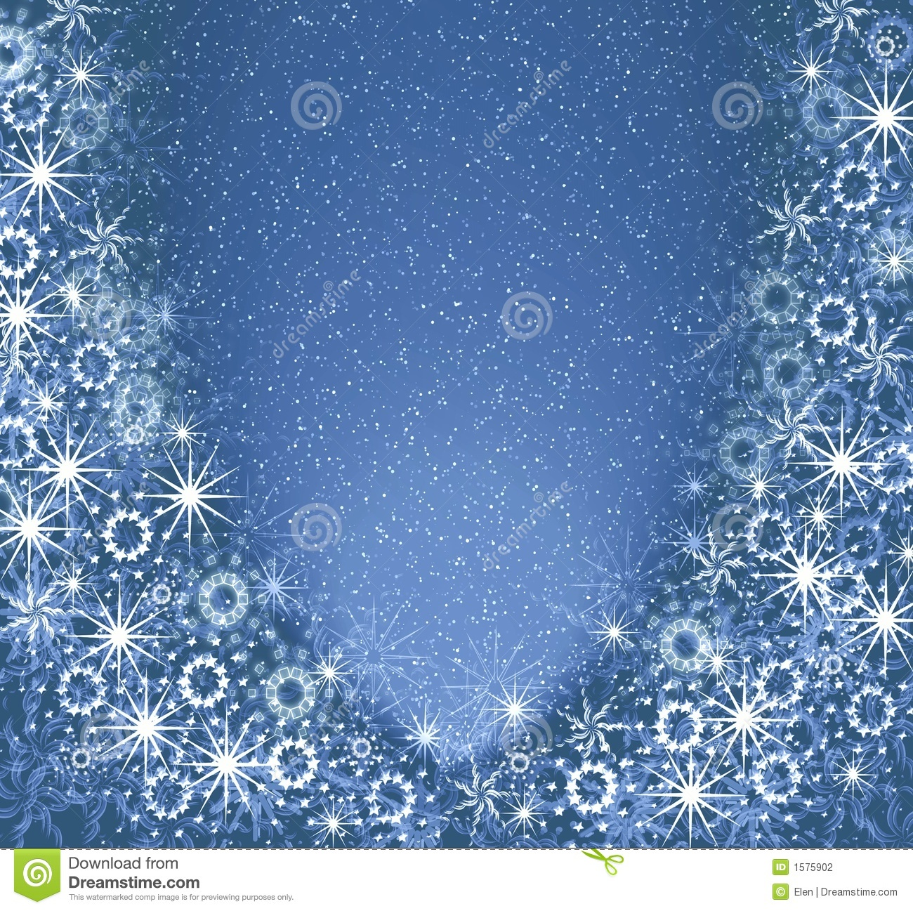 christmas blue magic frame