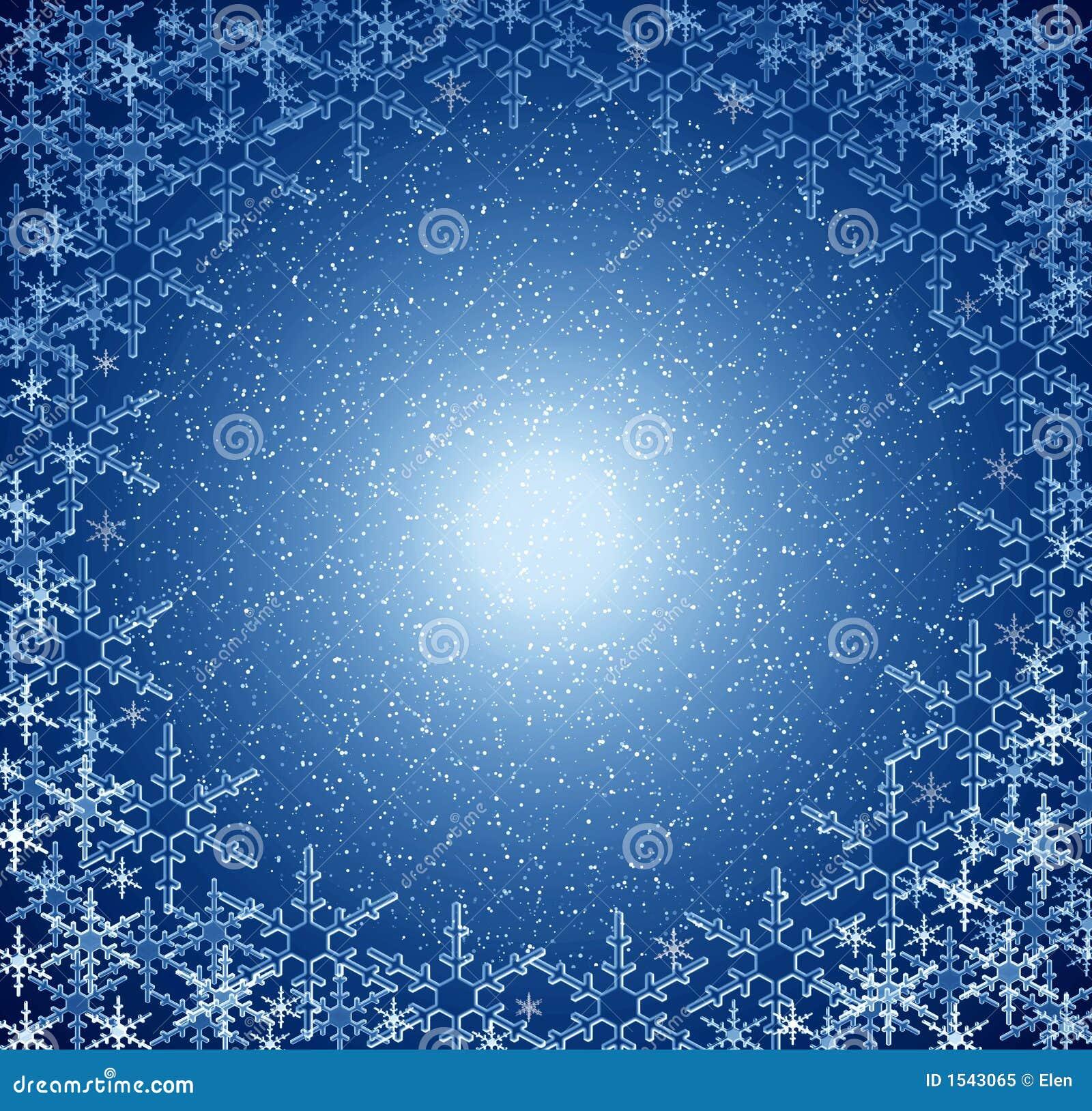 Christmas Blue Snow Frame Royalty Free Stock Photo Image