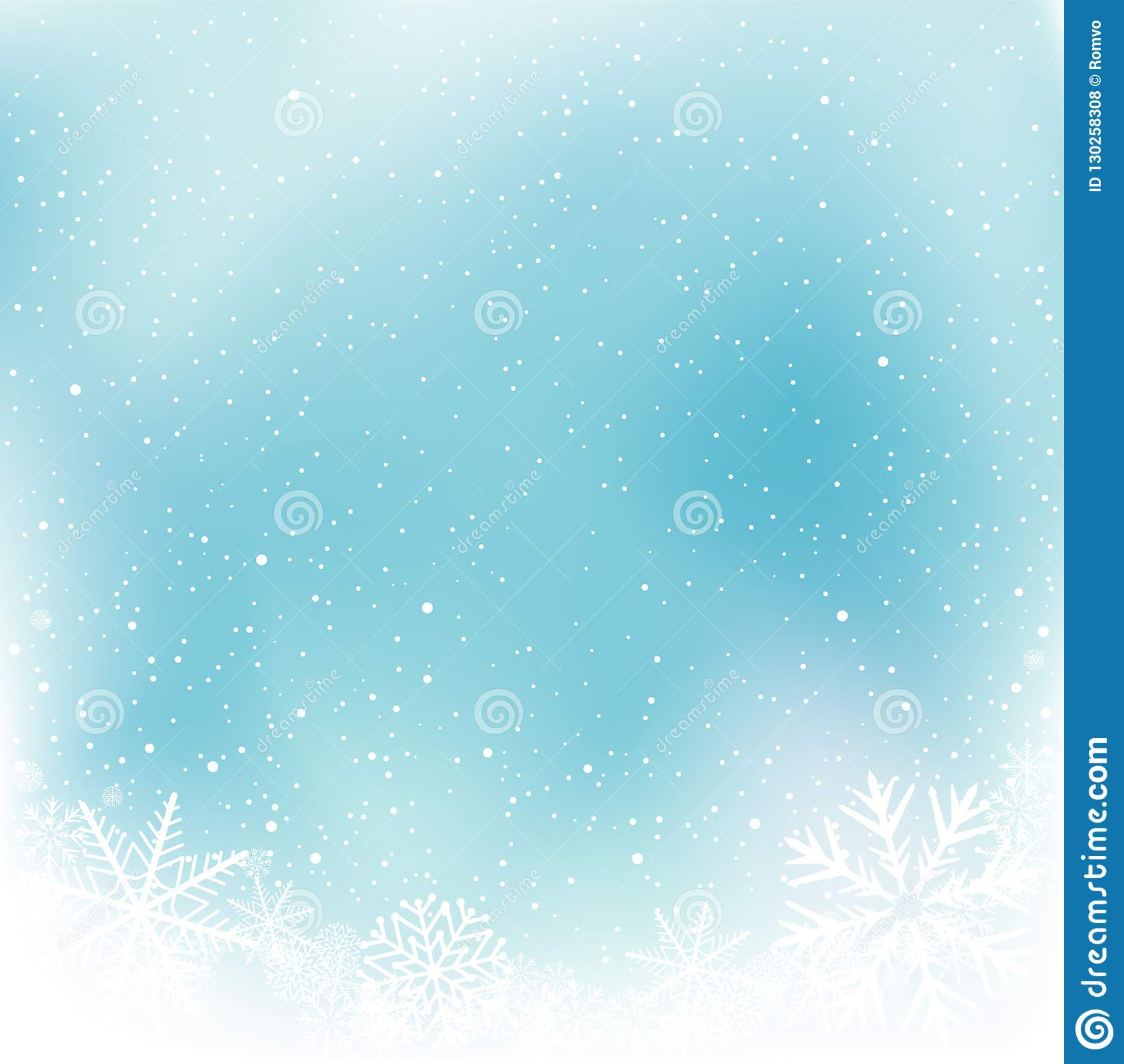 christmas blue snow winter template stock vector illustration of
