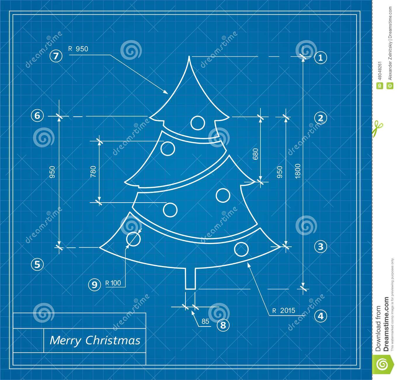 christmas blueprints stock vector  image of holiday