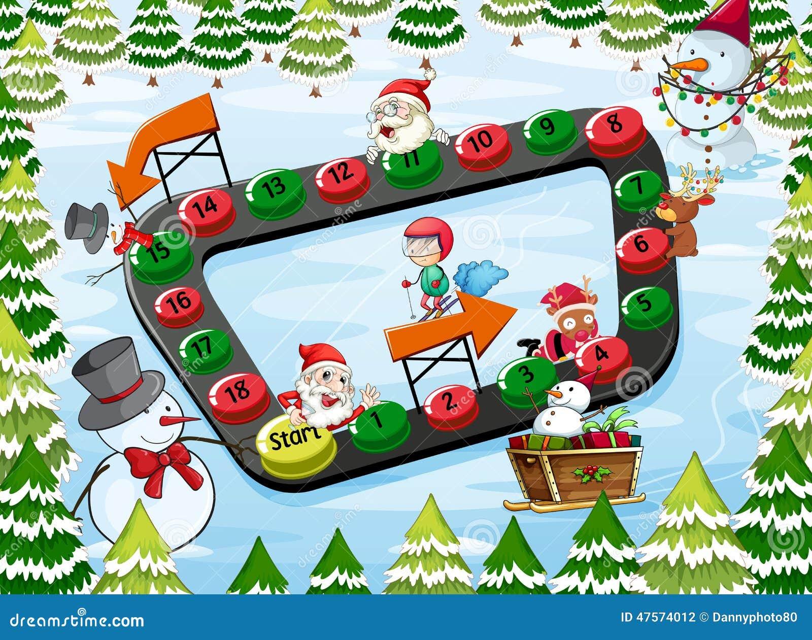 A Christmas Board Game Stock Vector - Image: 47574012