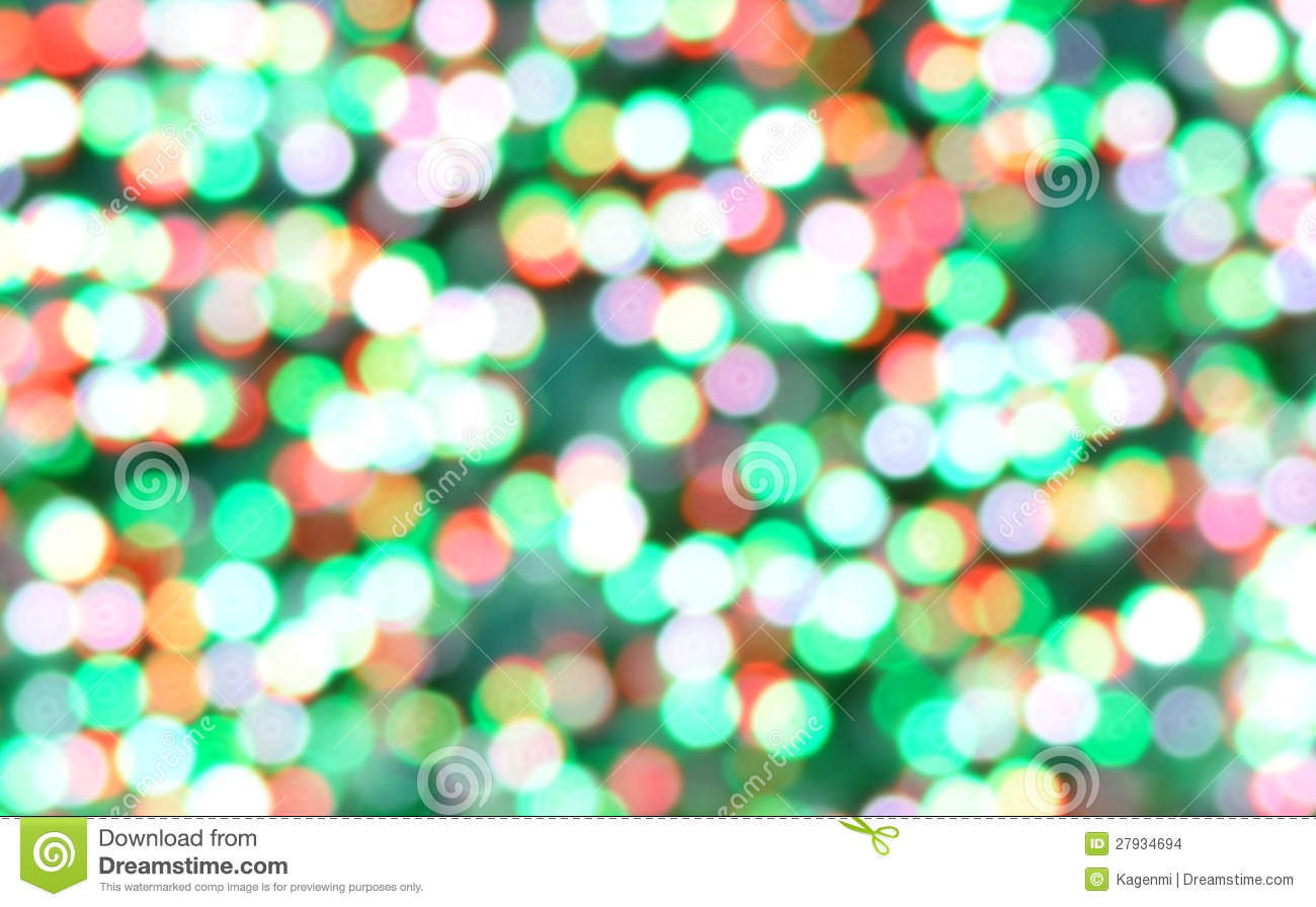 Christmas Bokeh Background Of Out Of Focus Lights Stock