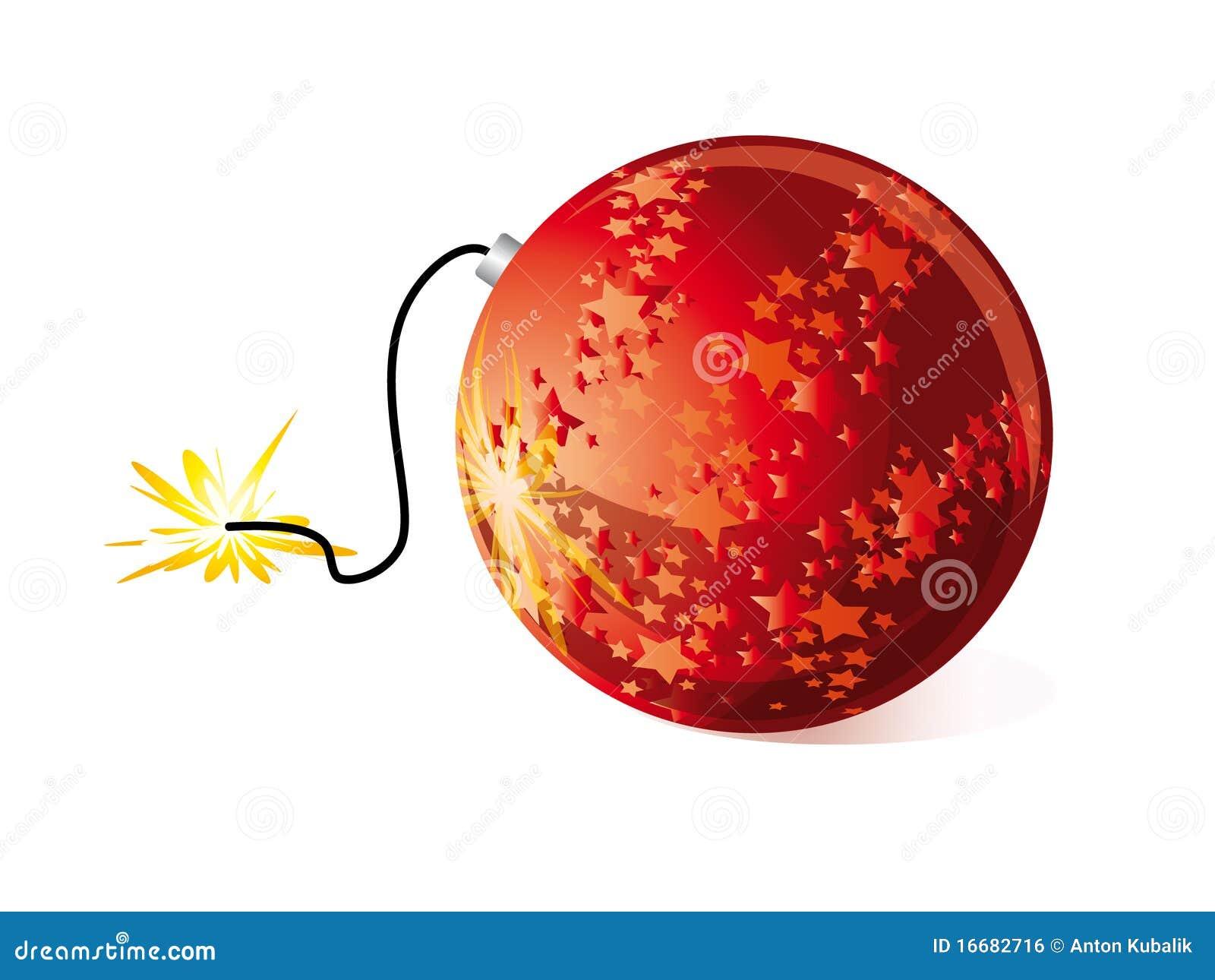 Christmas bomb stock vector. Illustration of bomb, vector - 16682716