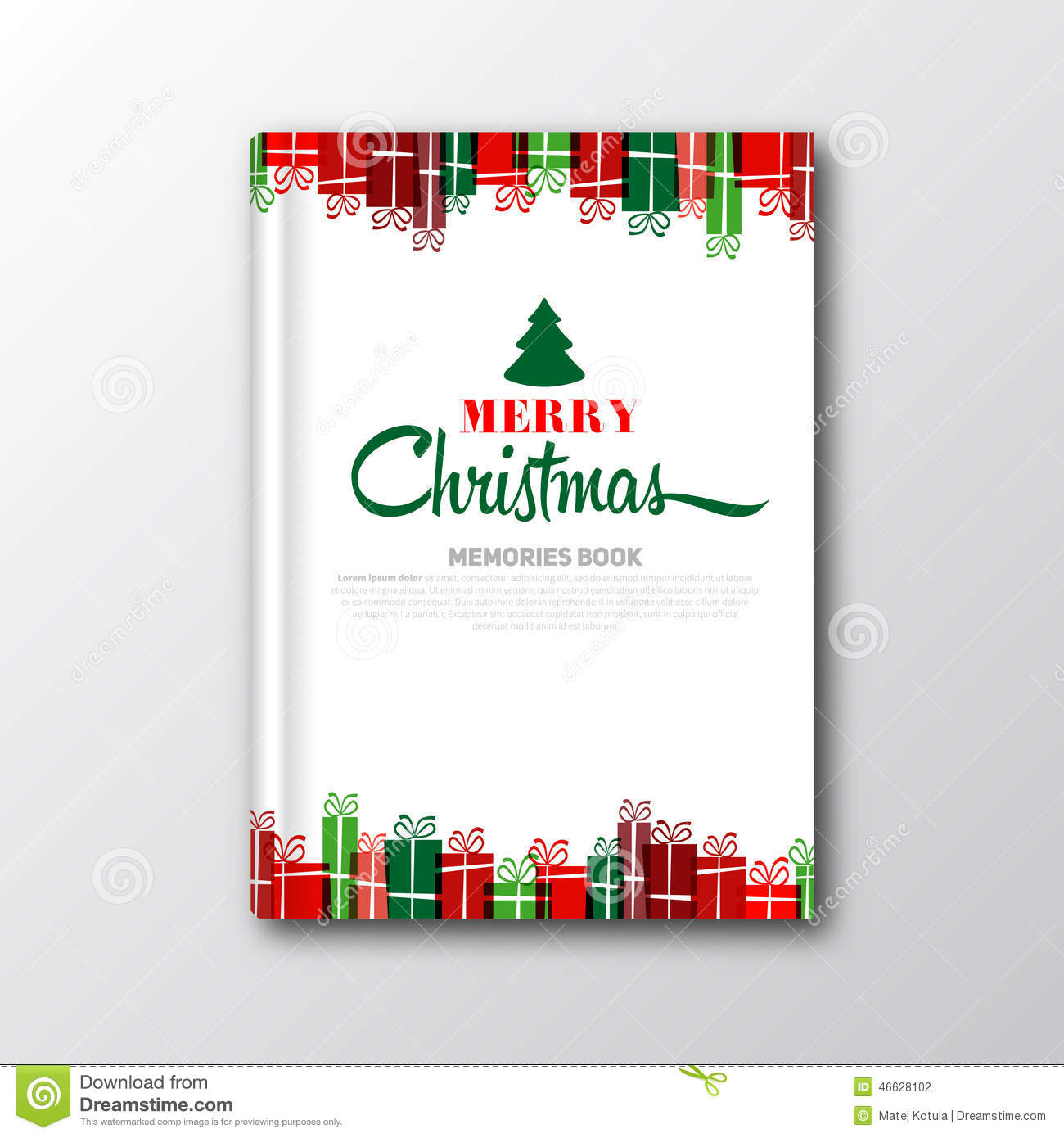 christmas book cover or flyer template stock illustration image christmas book cover or flyer template stock photography