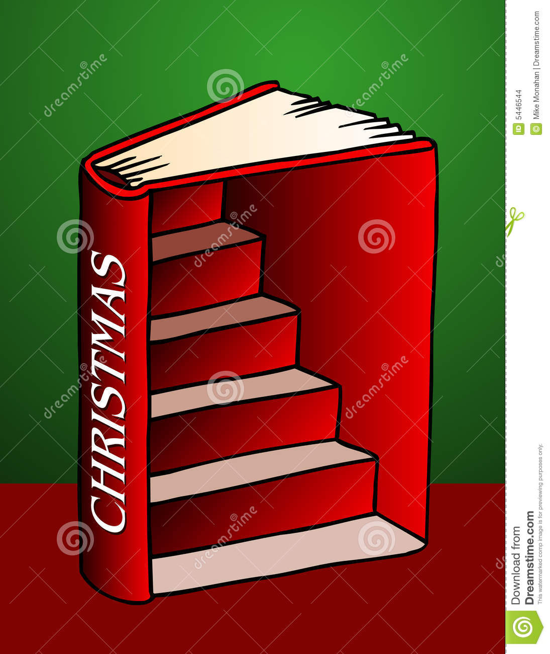 Book Cover Illustration Rates : Christmas book illustration stock vector of