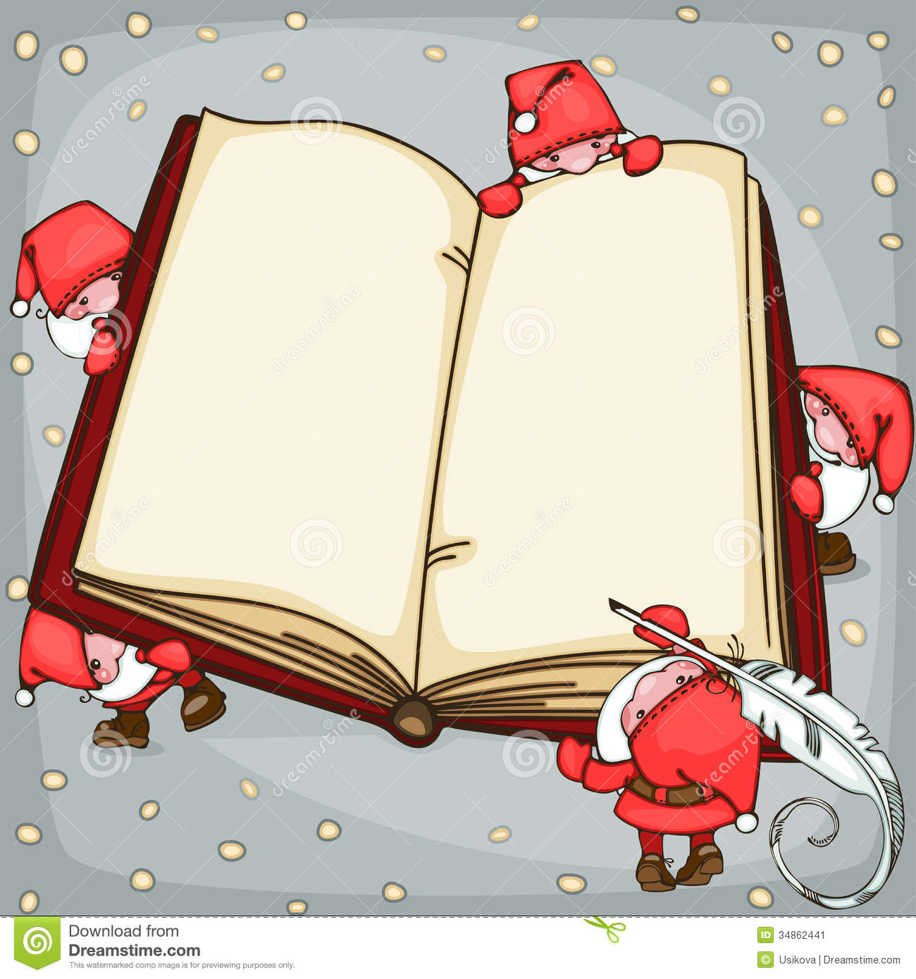 Christmas Book Stock Vector. Image Of Cartoon, Poster
