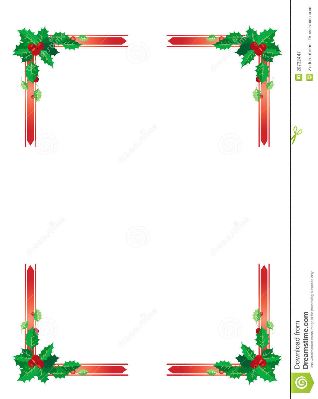 Christmas Border Royalty Free Stock Photography - Image: 20732447