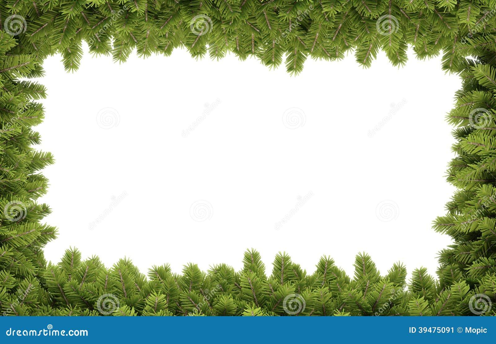 Christmas border stock illustration image of natural