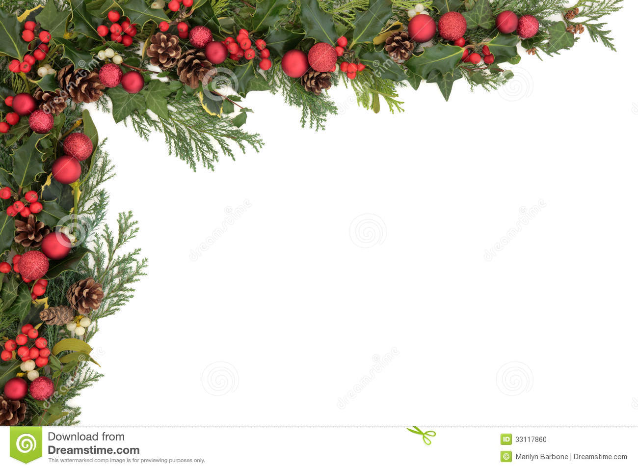 Christmas Border Stock Photo Image Of Seasonal Floral