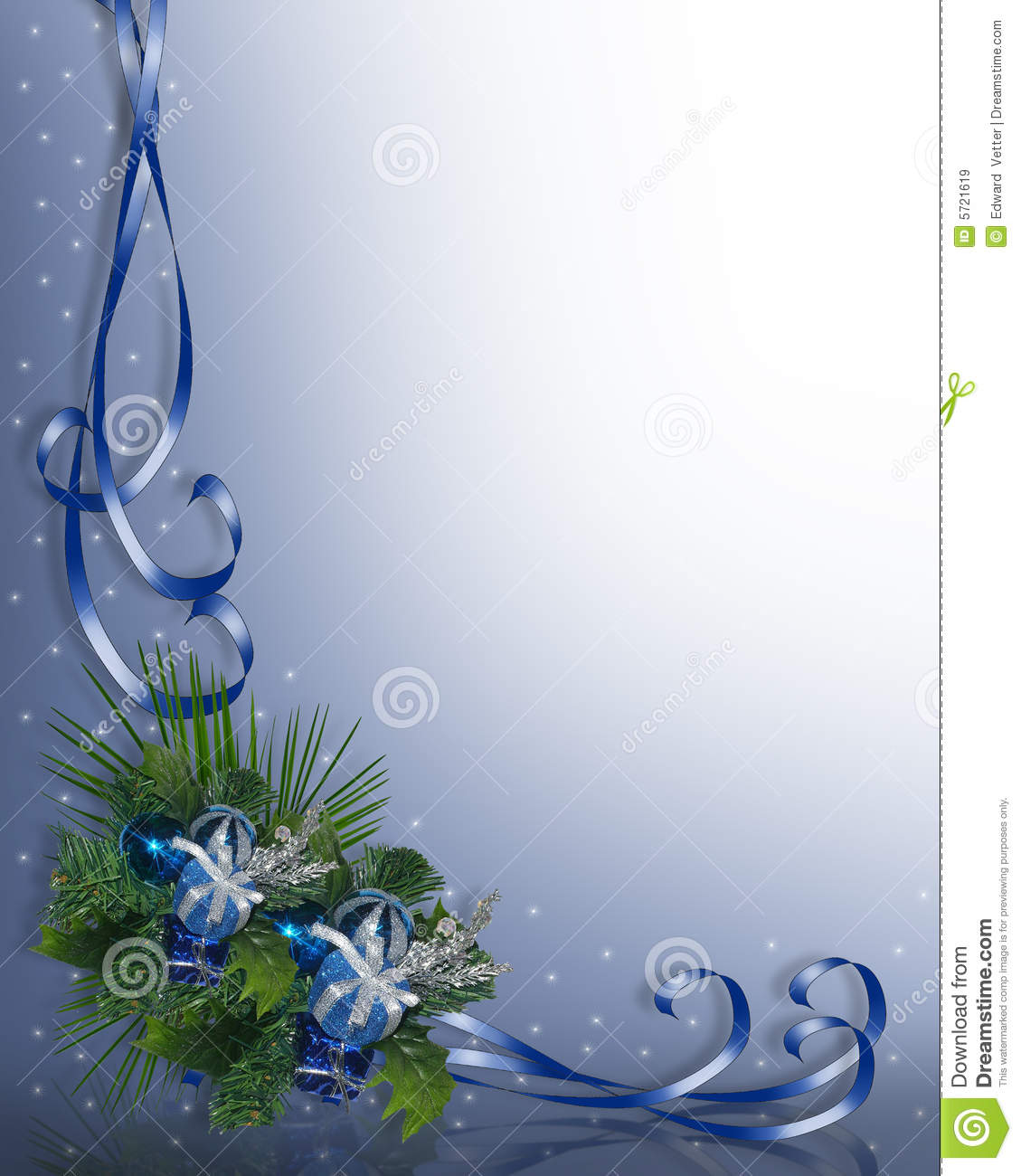 Christmas Border Blue Royalty Free Stock Images - Image: 5721619