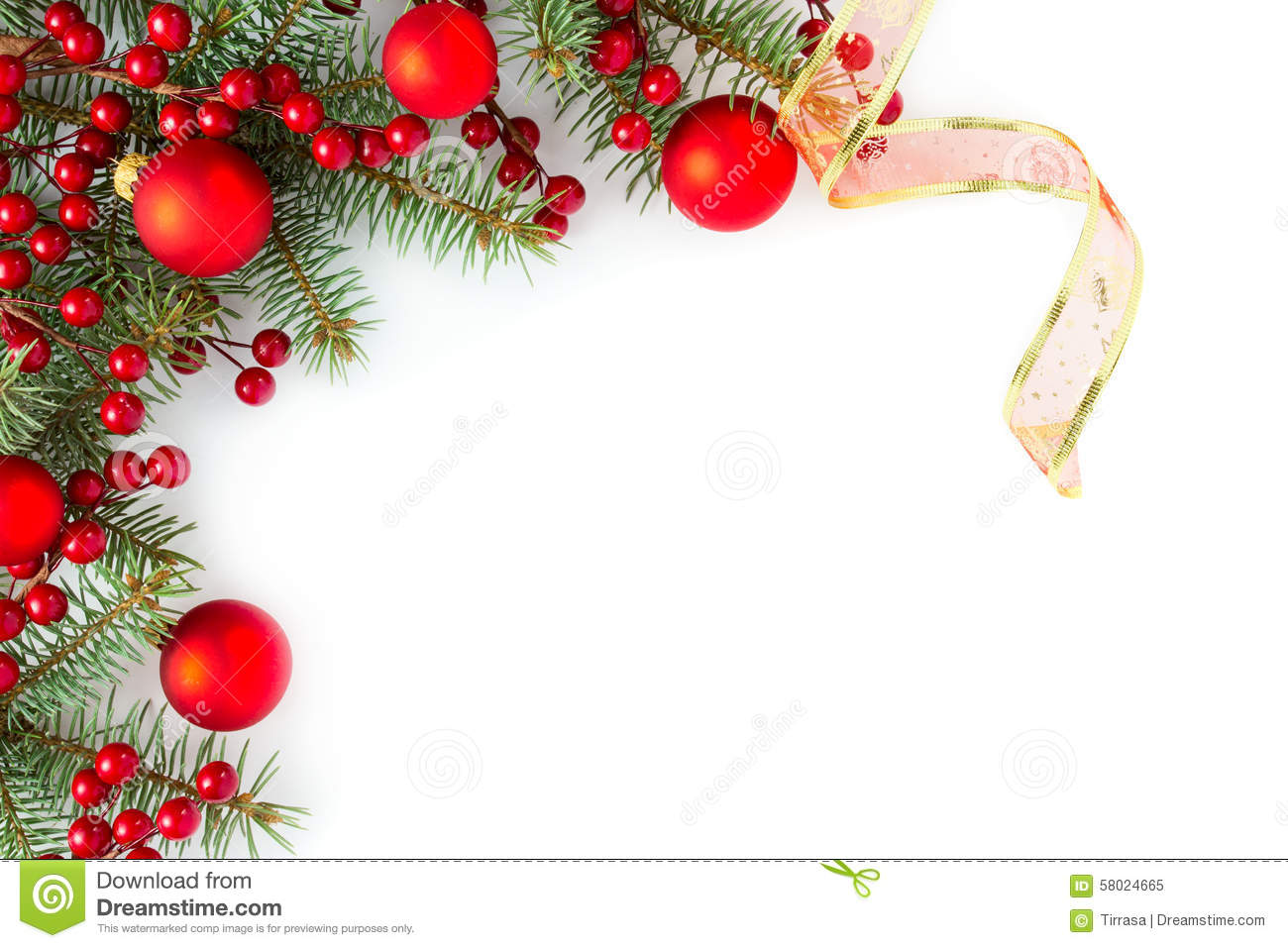 Free Christmas Borders.Christmas Border Stock Image Image Of Card Coniferous
