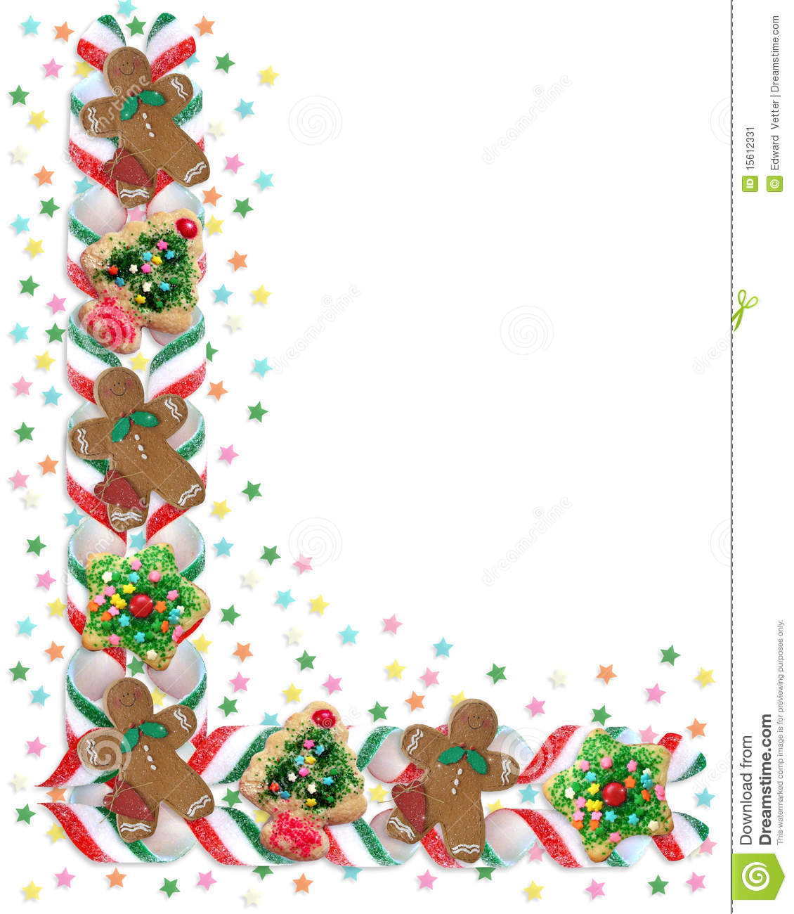 christmas border cookies and candy stock illustration illustration rh dreamstime com Holiday Divider Holiday Ornament Clip Art
