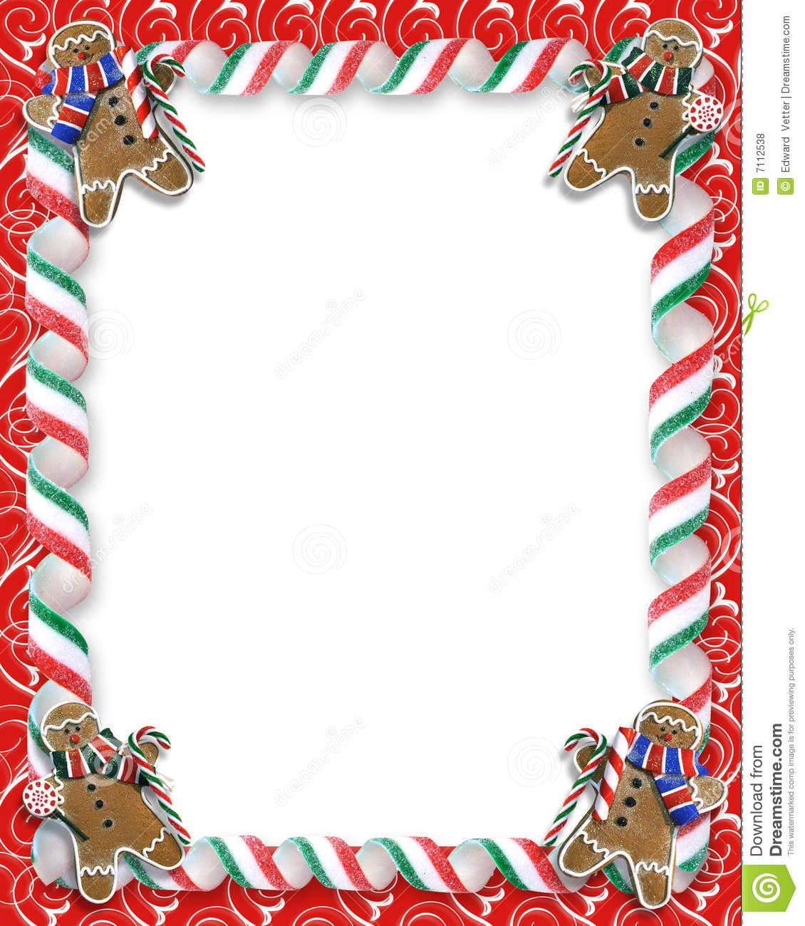 Letter Shelf Christmas Border Cookies And Candy Stock Illustration