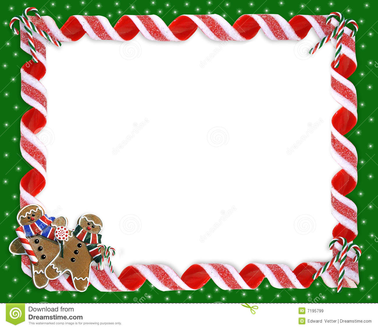 Christmas Border Cookies And Candy Stock Illustration Illustration