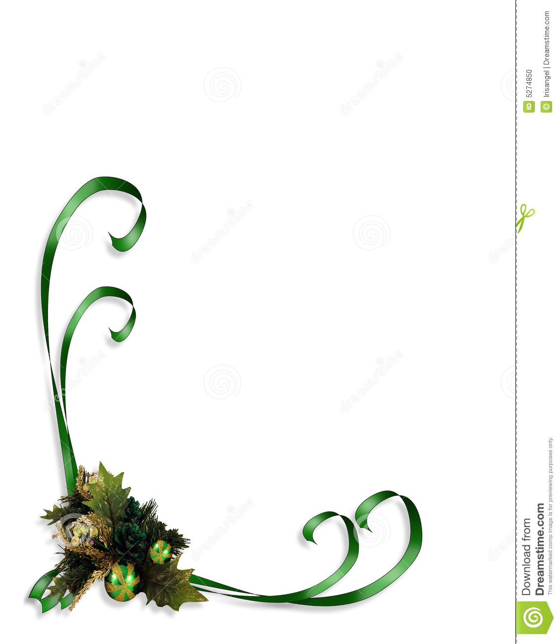 Christmas Border Corner Design Stock Photo - Image: 5274850