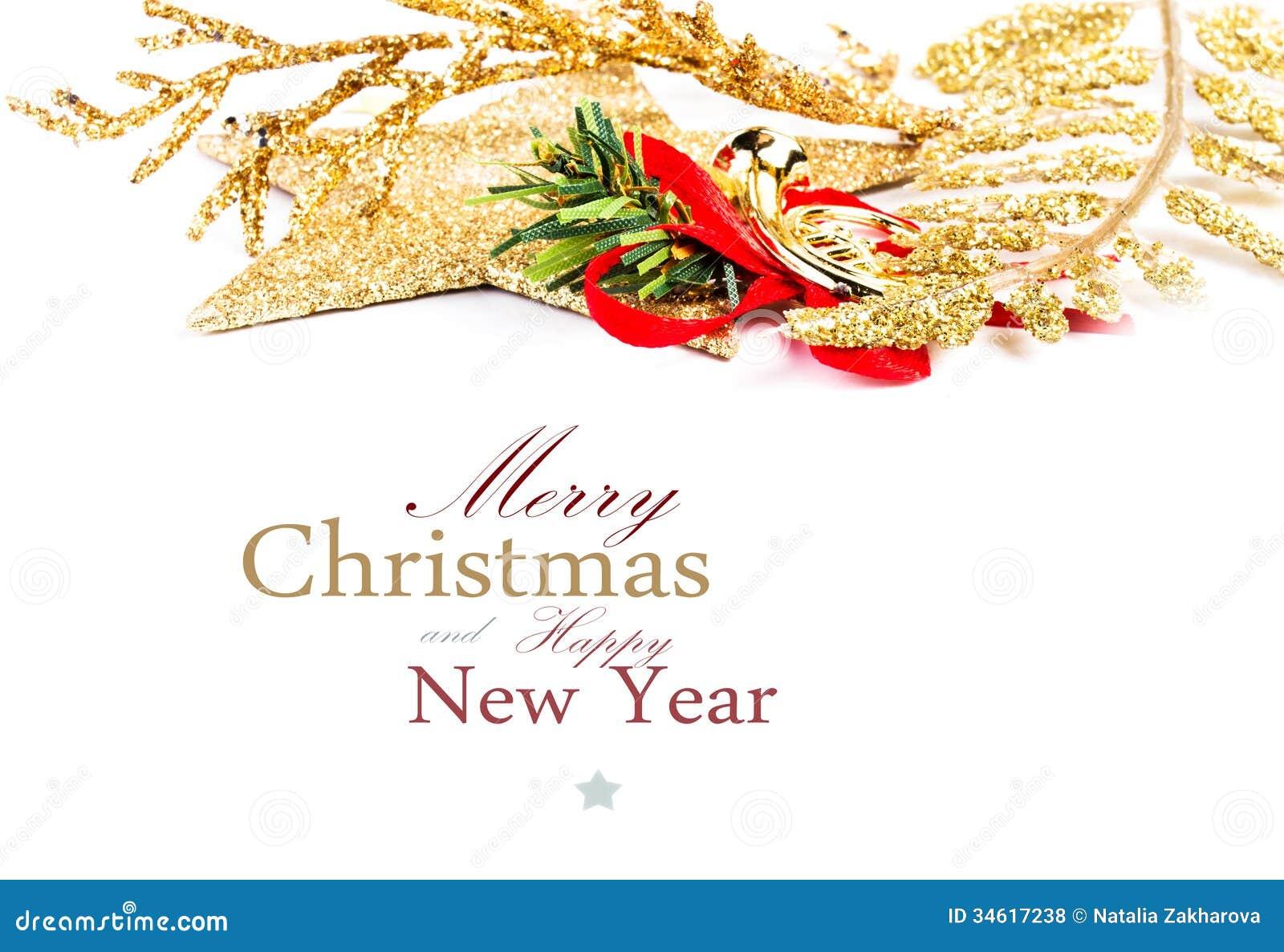 Christmas Border Decoration Isolated On White Background ...