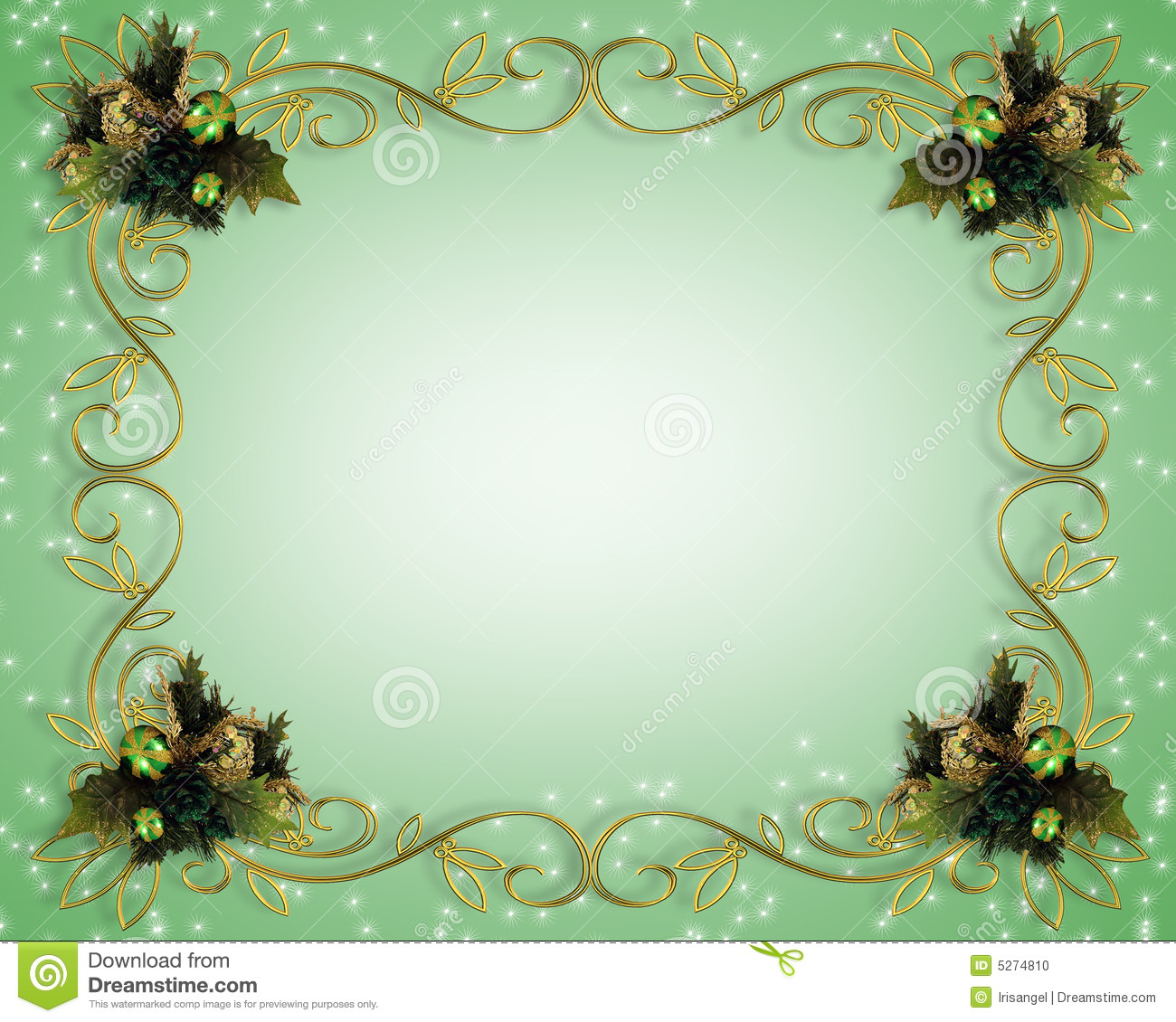 Christmas Border Design Stock Photo - Image: 5274810