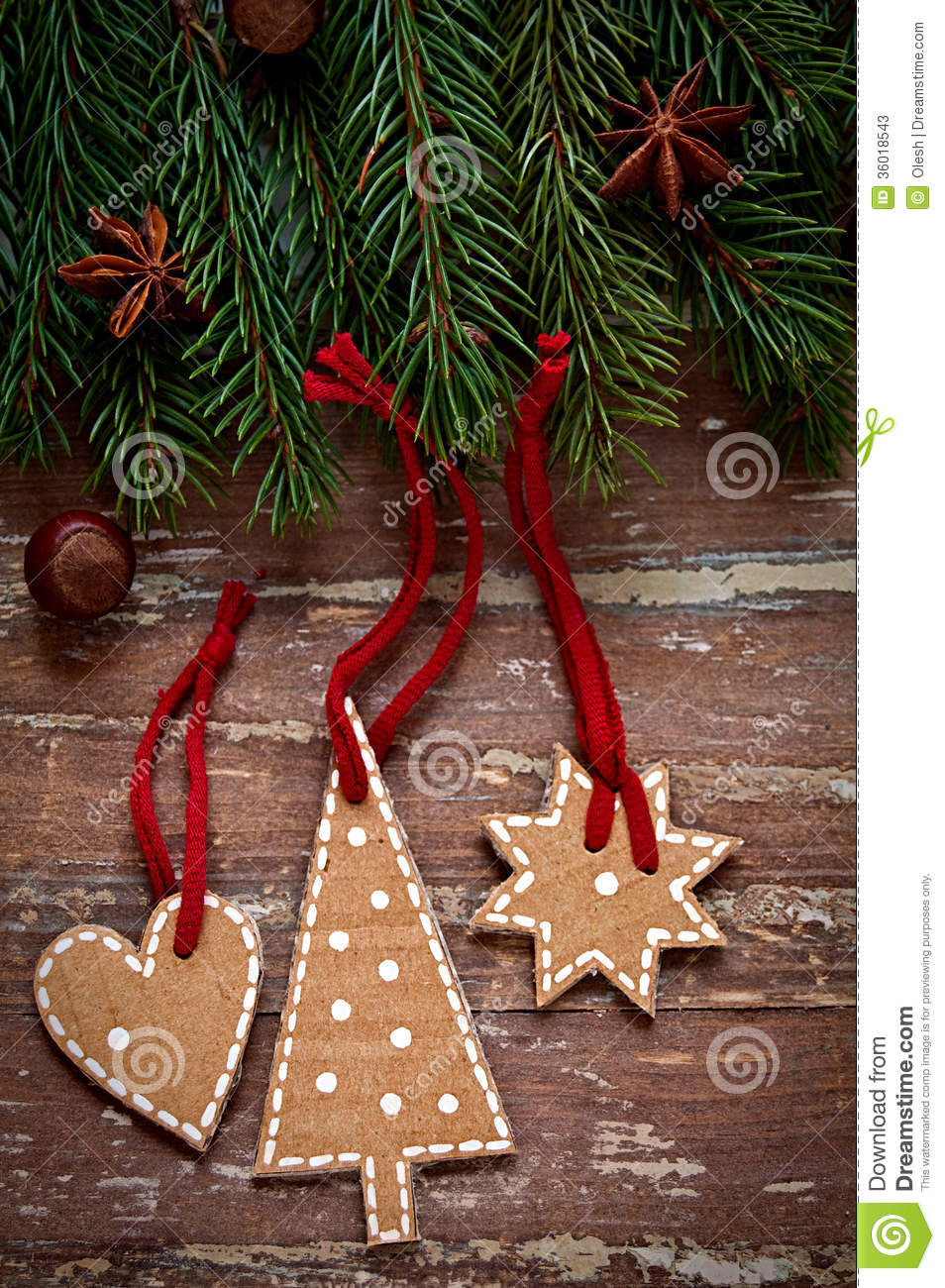 Christmas Toys Border : Christmas border design on the wooden background stock