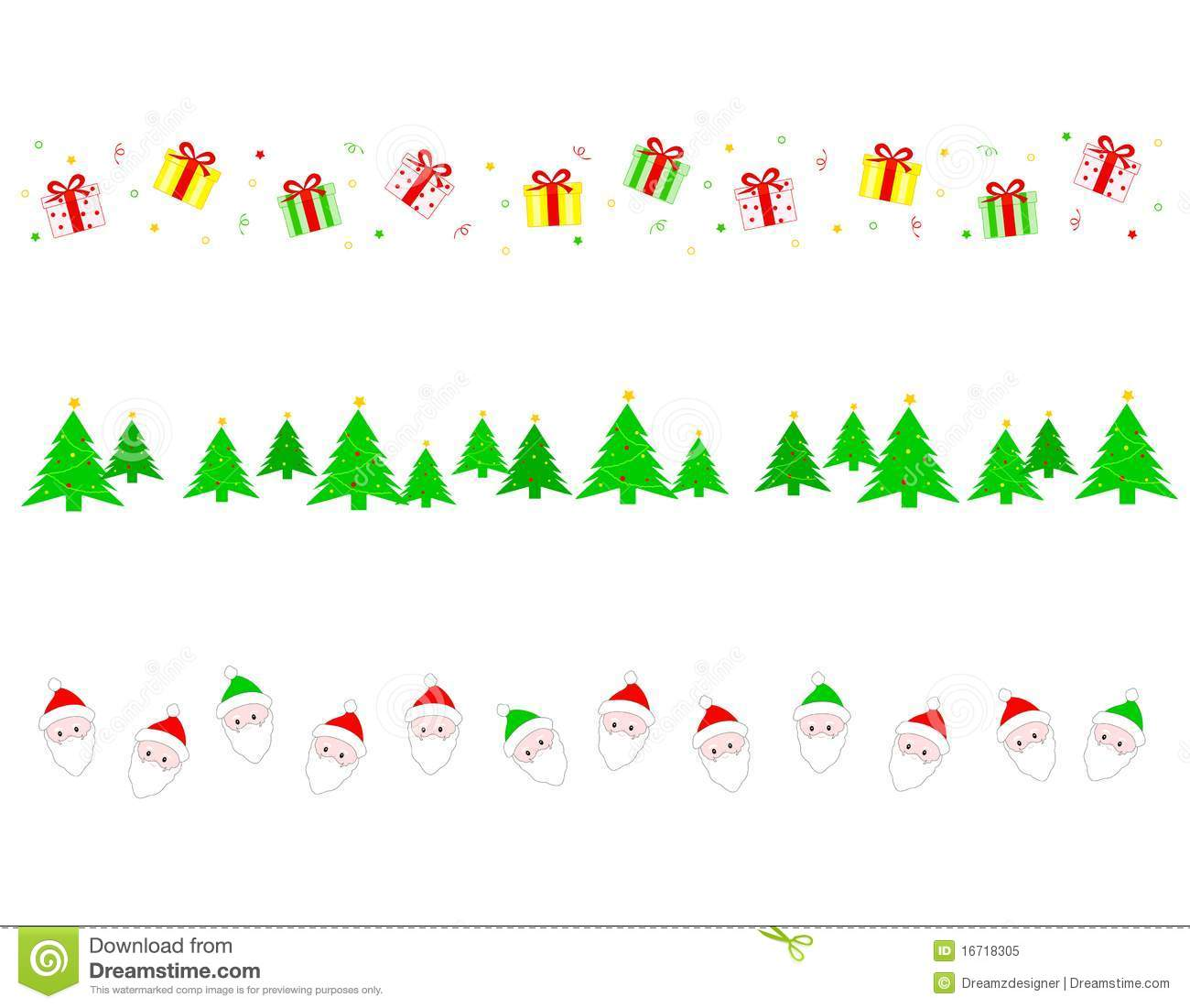 Christmas Border/ Divider Royalty Free Stock Photo - Image ...