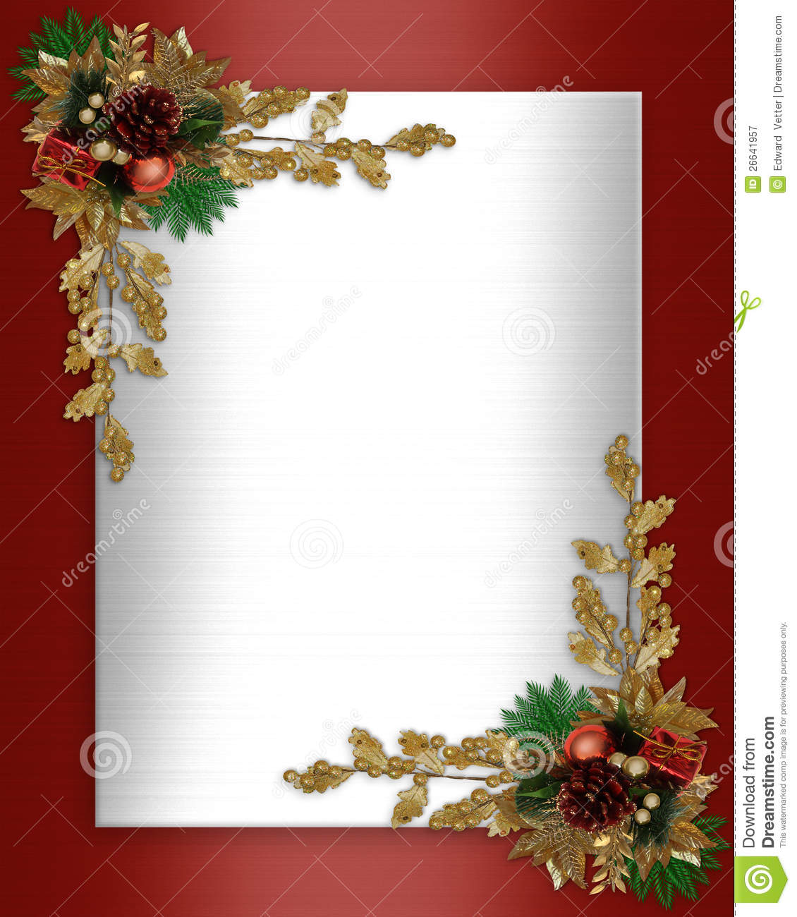 christmas border elegant stock illustration illustration of colors