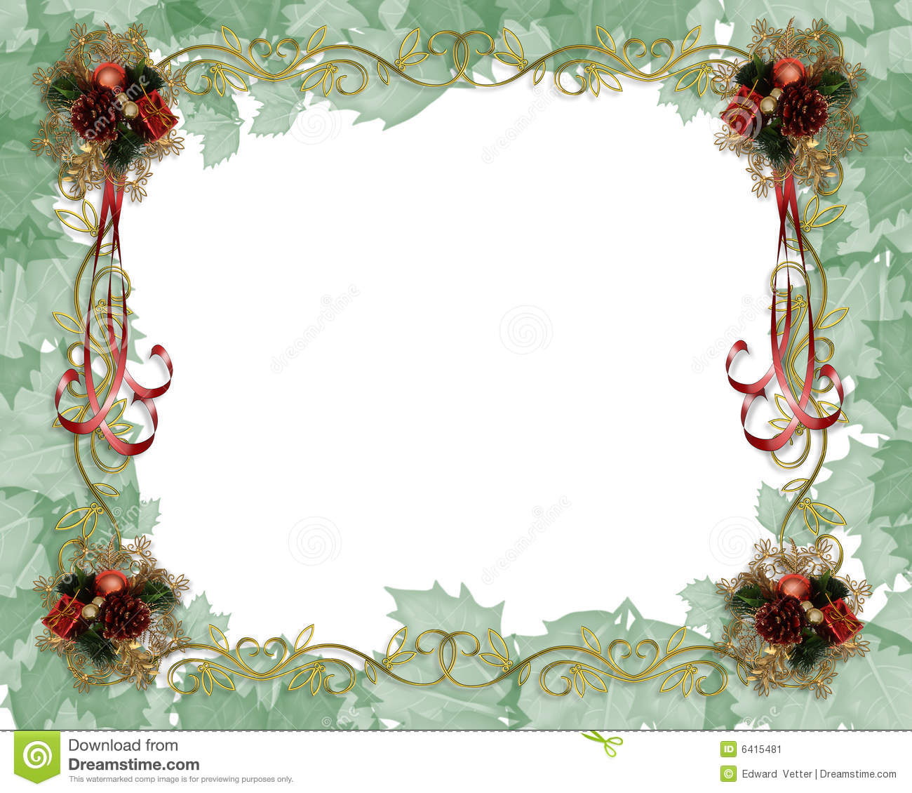 christmas border fancy stock illustration illustration of postcard