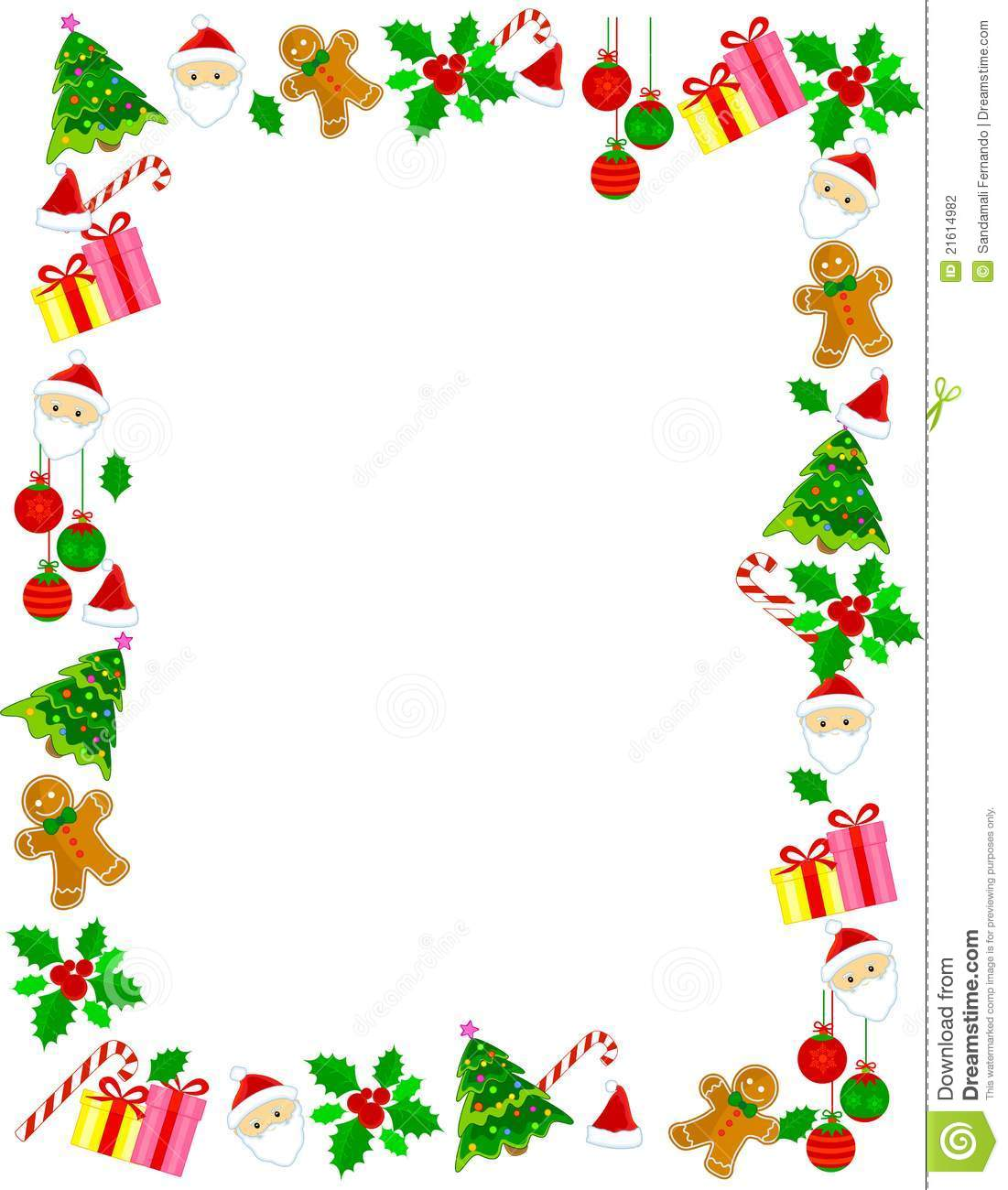 download christmas border frame stock vector illustration of berry 21614982