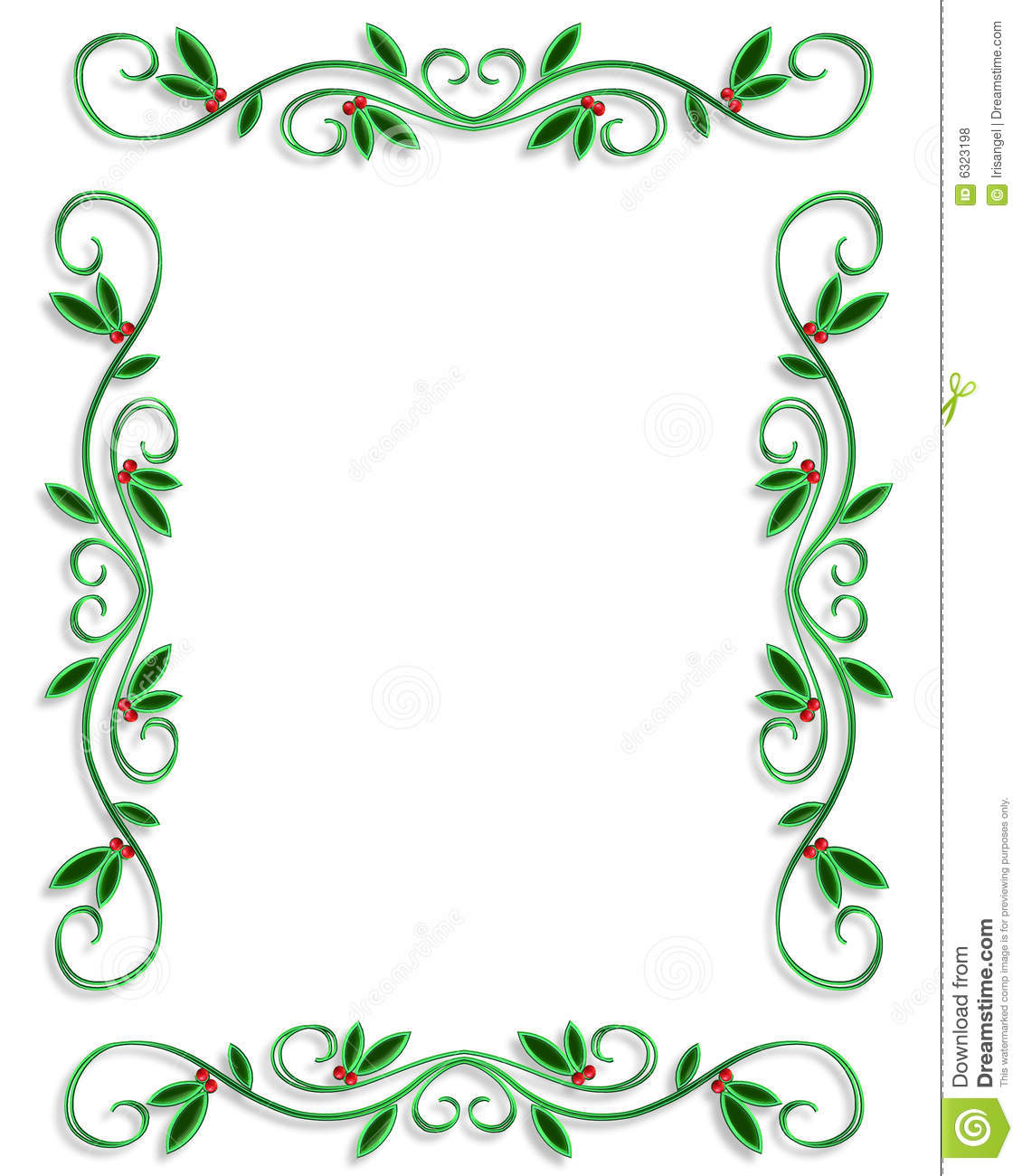 ... Background, border or frame for Christmas holiday with copy space