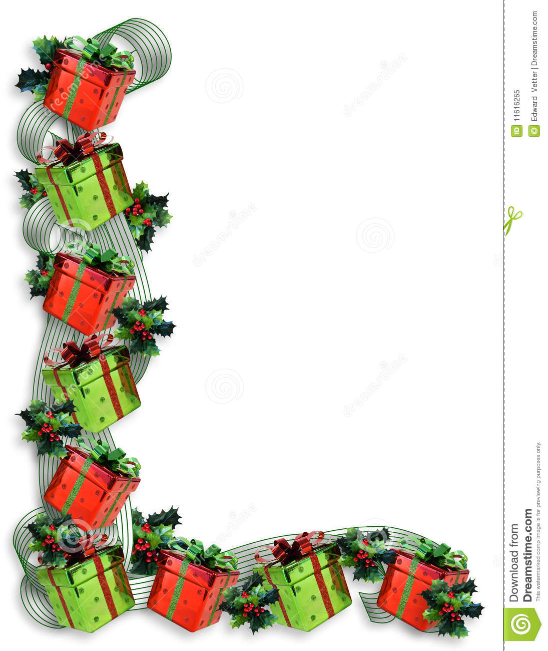 Image and illustration composition for Christmas border, background ...