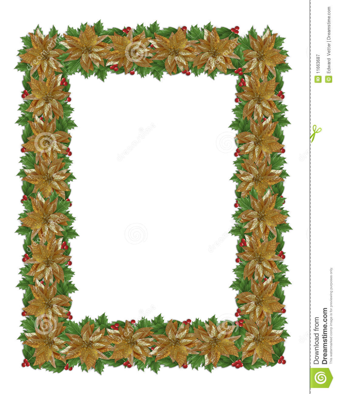 Christmas Border Gold Royalty Free Stock Photography ...