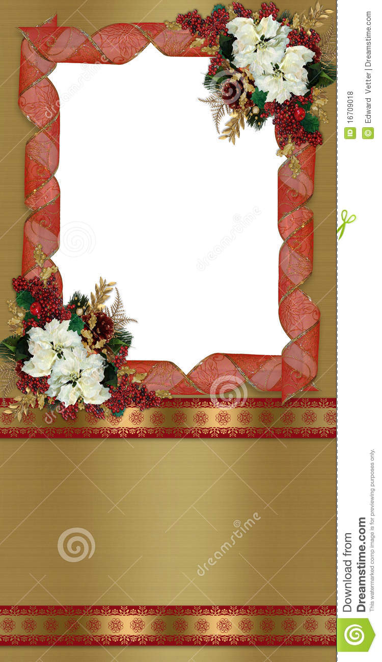 christmas border greeting card royalty free stock photos