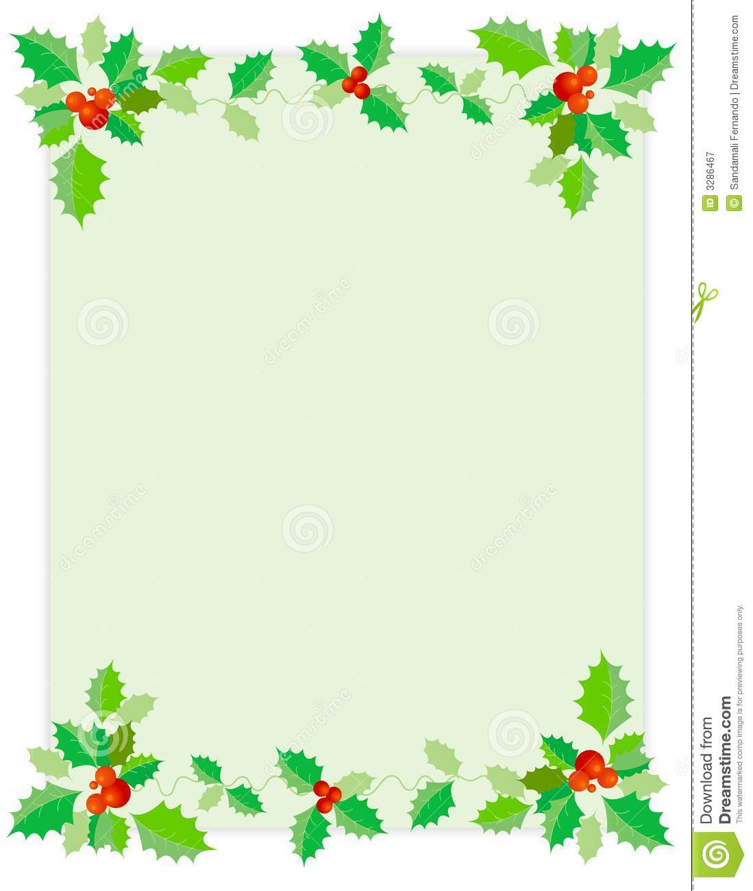 christmas border holly royalty free stock photography