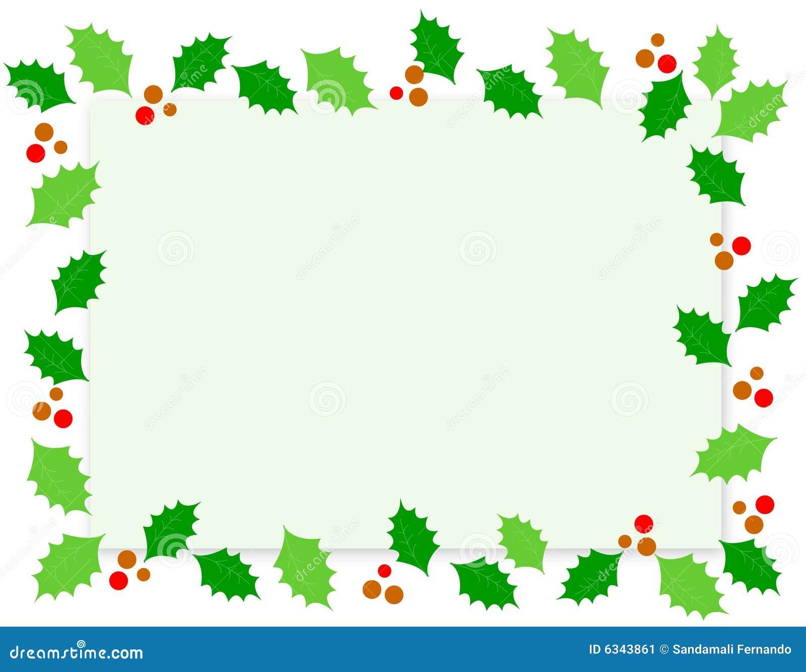 Christmas border holly stock vector illustration of