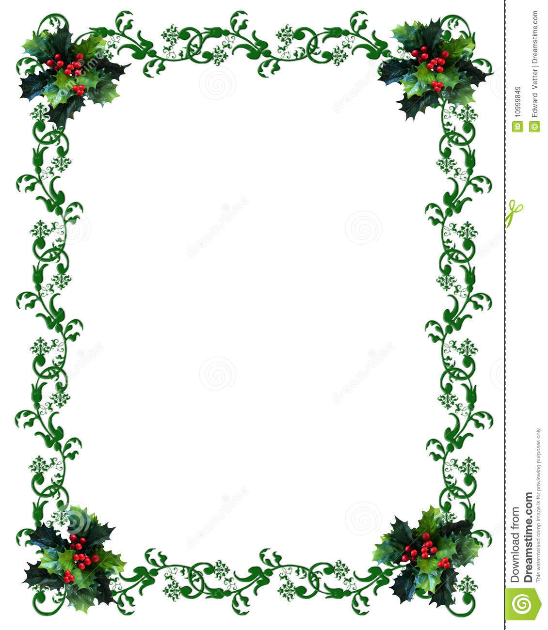 ... Holly On White Background Royalty Free Stock Images - Image: 10999849