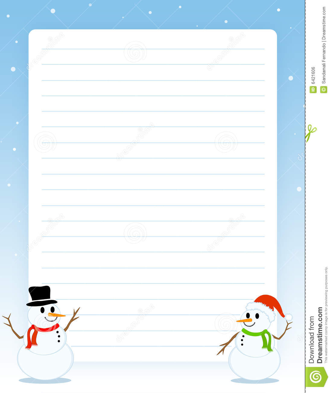 blue painted background christmas stationary ruled note book page
