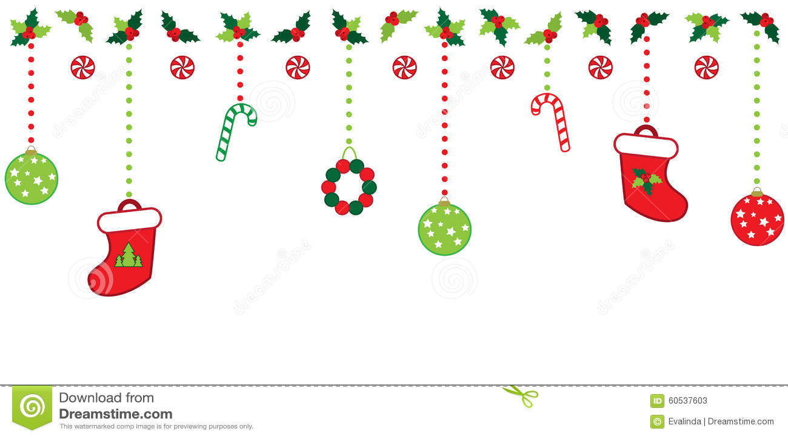 Christmas border stock illustration of