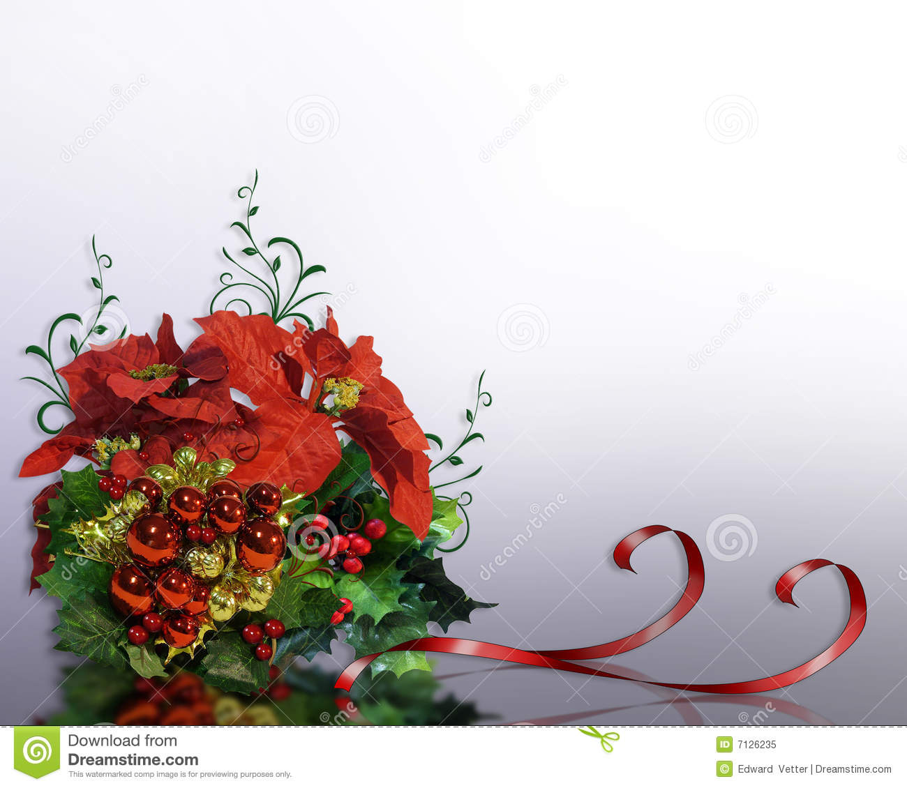 christmas border poinsettias royalty free stock photo