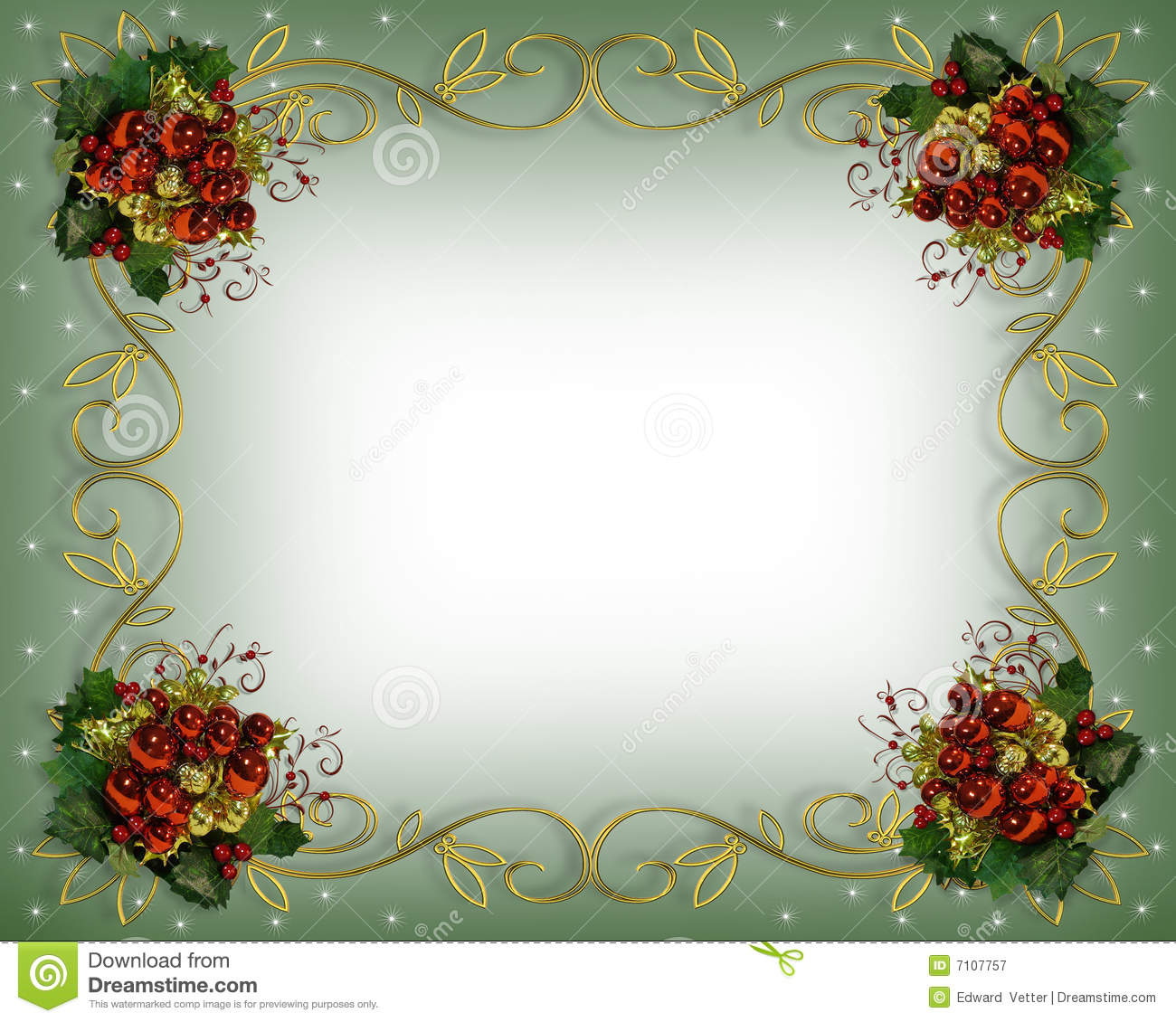 Christmas Border Red Accents Royalty Free Stock