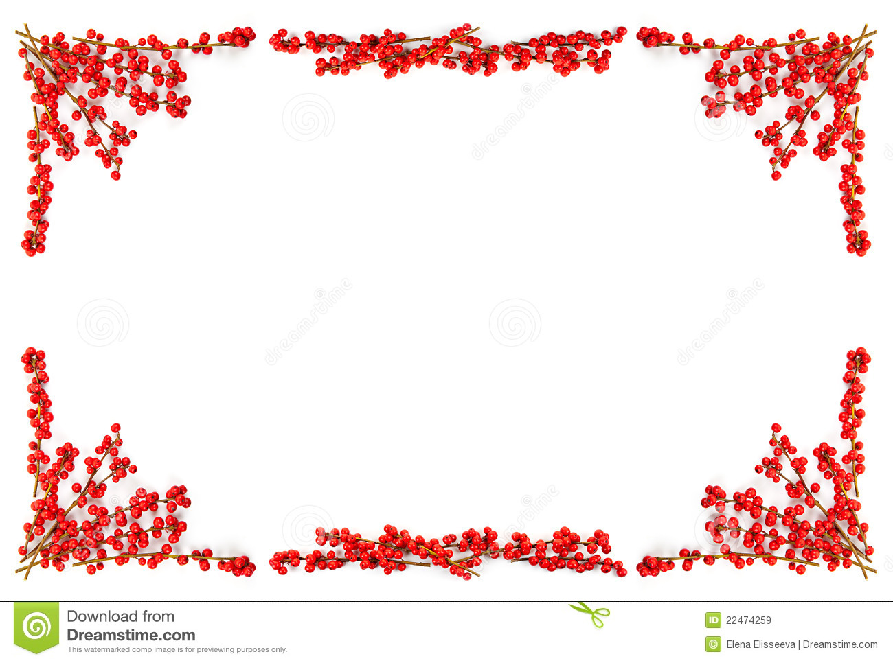 christmas-border-red-berries-22474259 Red Berries For Christmas Decorations