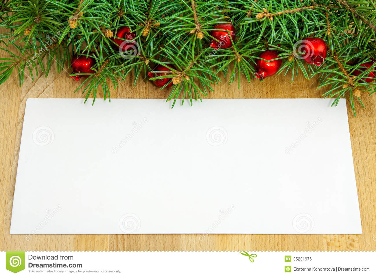 Christmas Border With Red Berries And Toys Royalty Free Stock ...