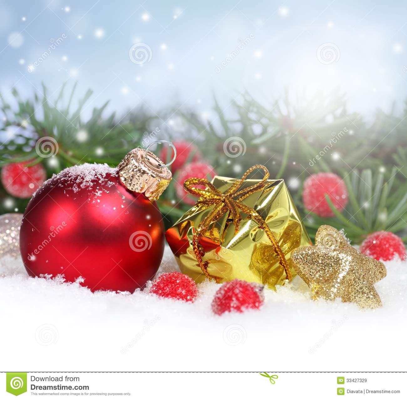 Christmas Ornament Box Royalty Free Stock Photo - Image: 10335365