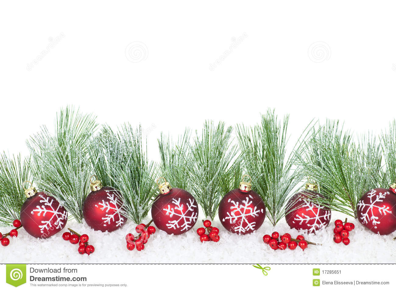 Border Branches Christmas Ornaments