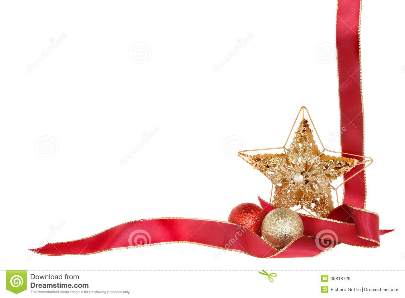 Christmas Border Stock Image Image Of Theme Festive