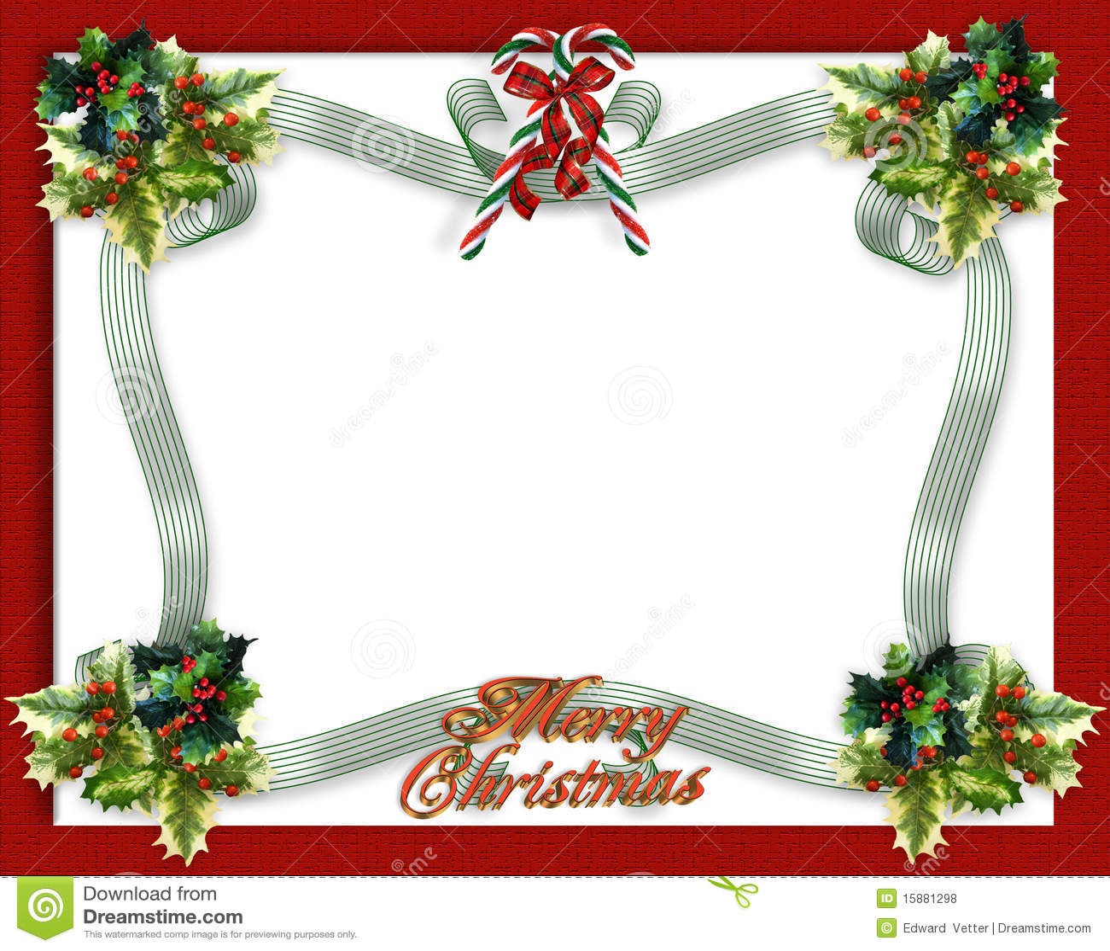 Christmas Border Ribbons Royalty Free Stock Photos Image
