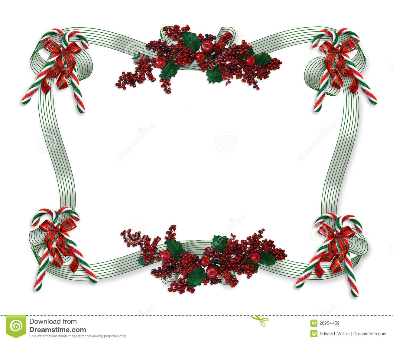 Christmas border ribbons stock illustration image of