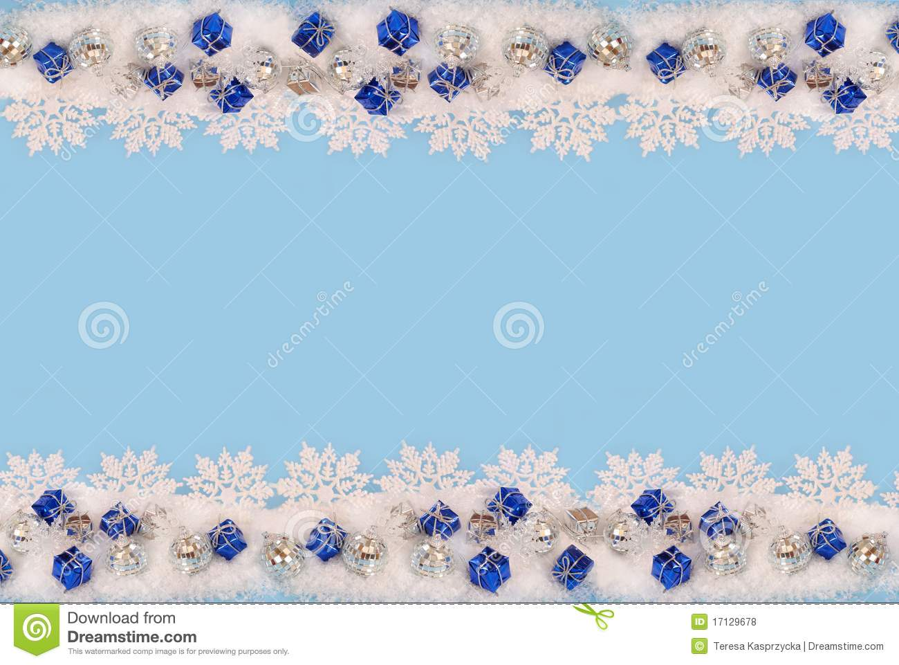 christmas border with snow stock photo  image of small