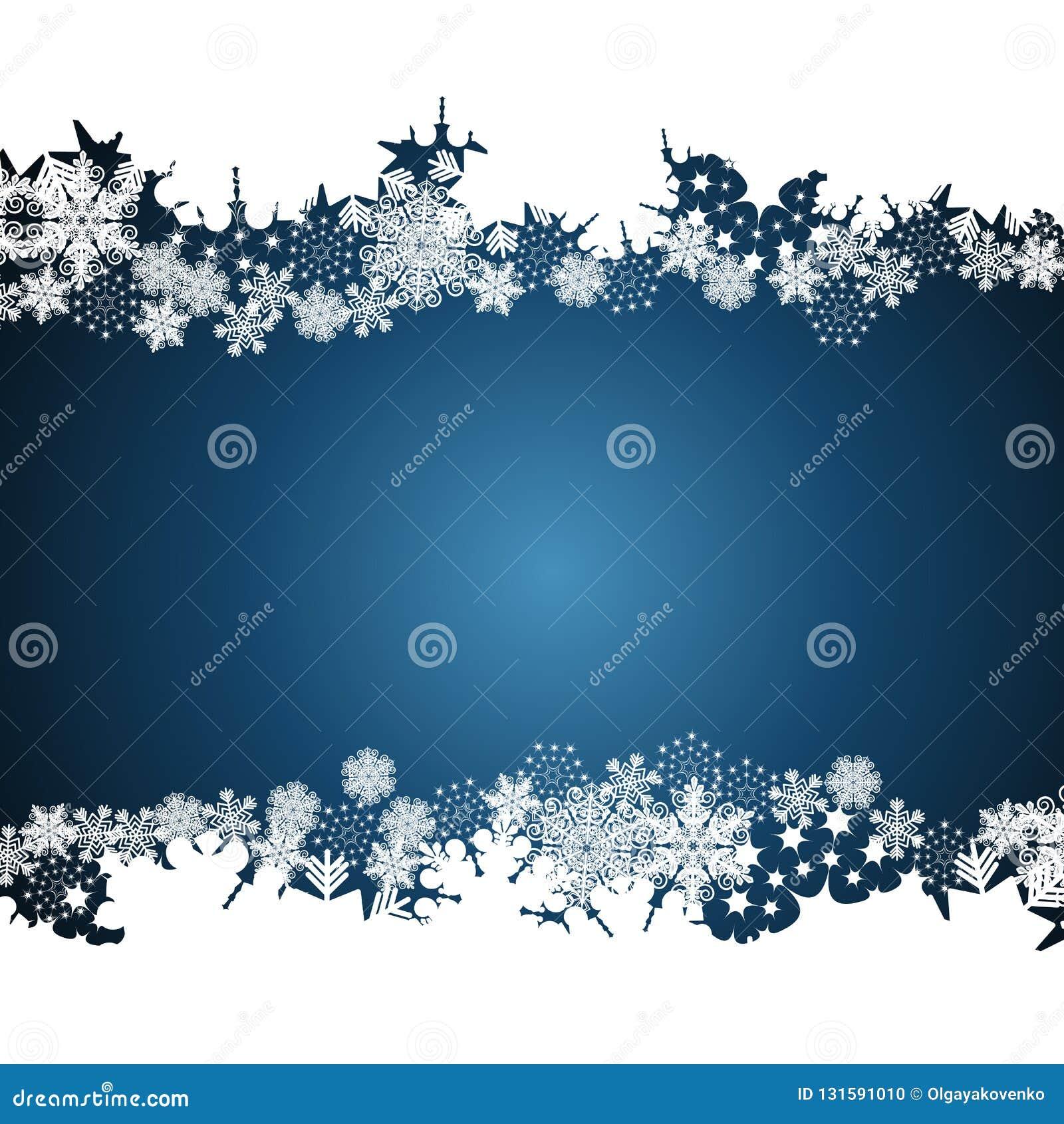 Christmas border, snowflake design background